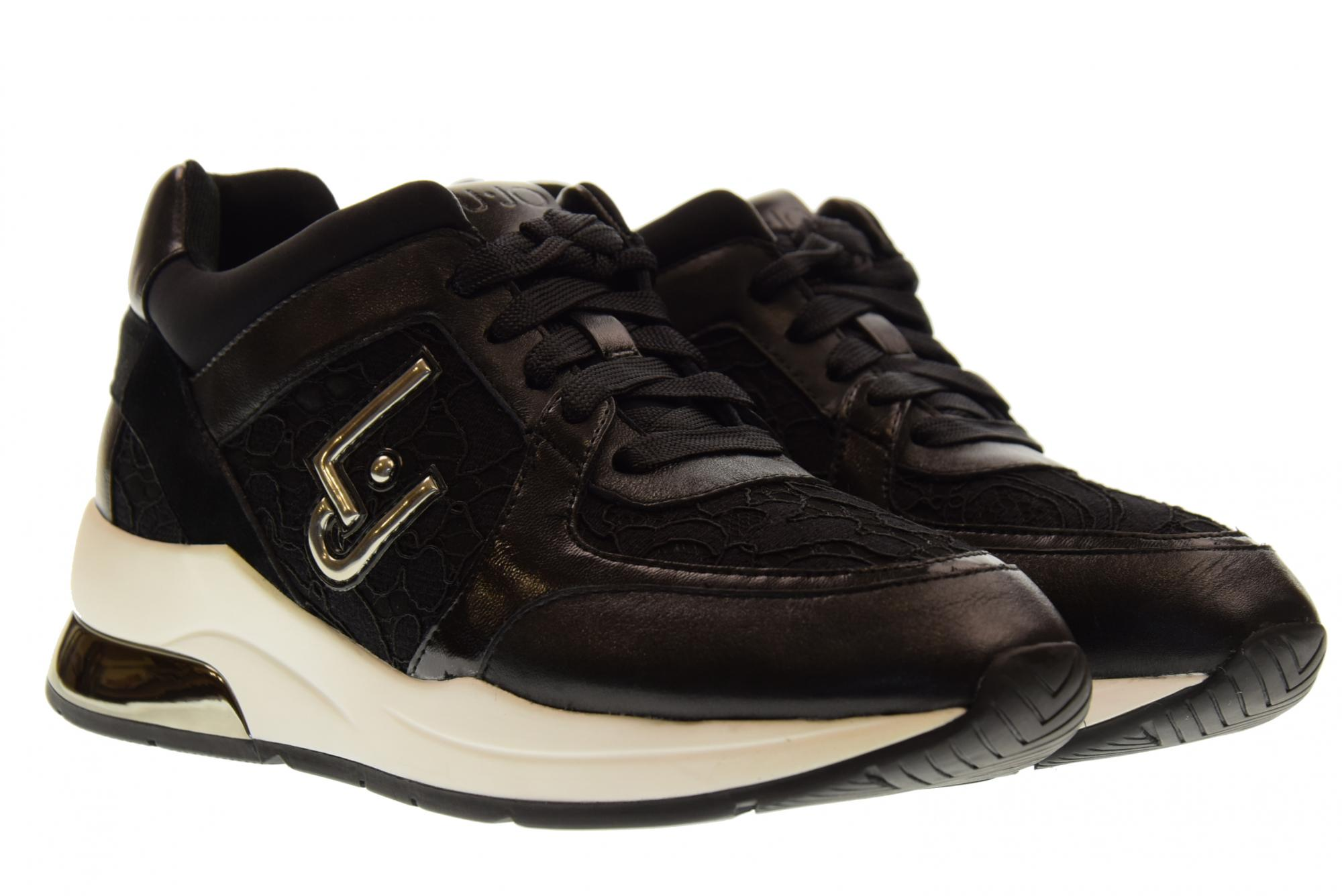 7dcecf6ff5 Details about Liu Jo A18u shoes woman low sneakers B68003 TX002 KARLIE 05  LACE UP BLACK