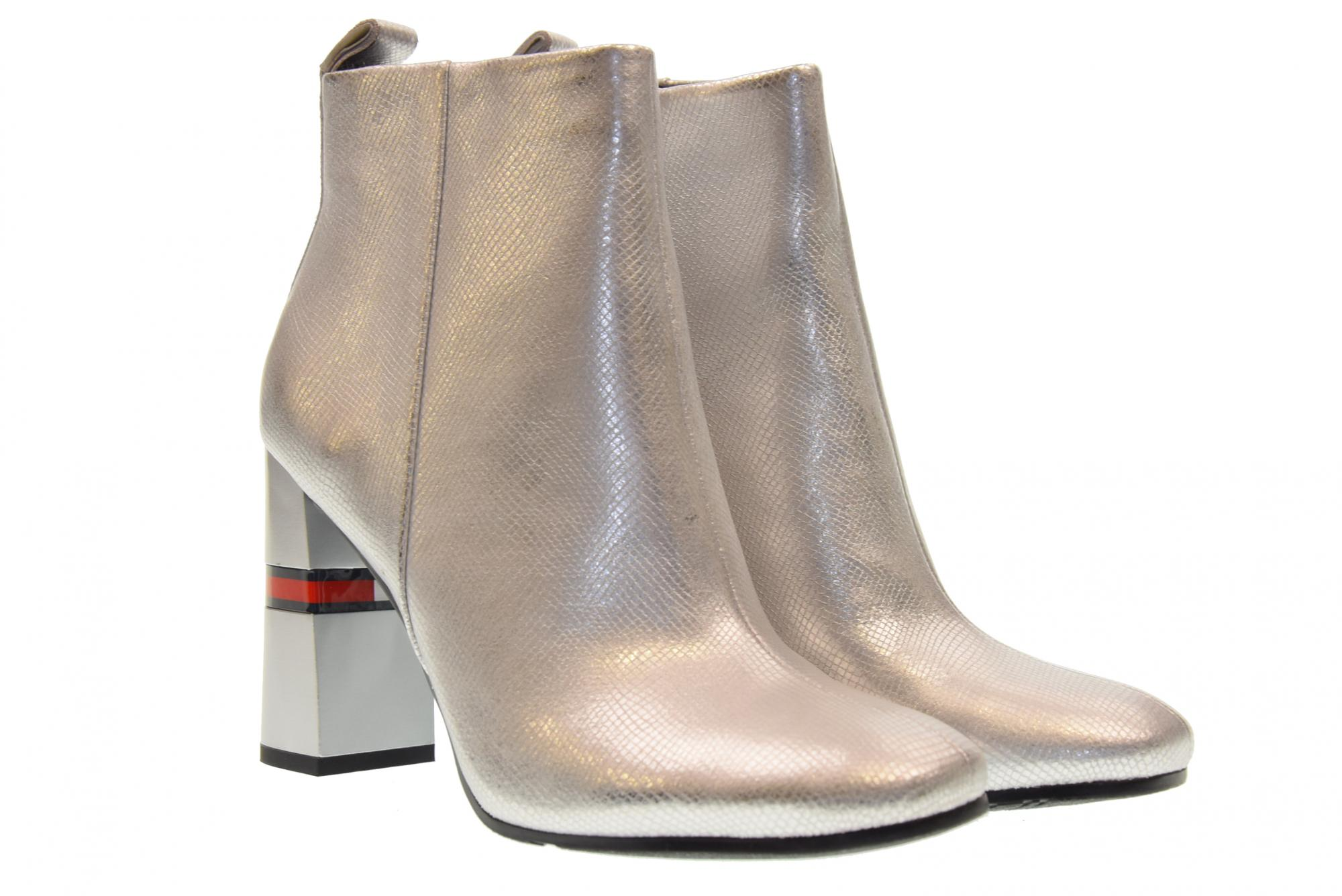 cd9e84cfd3b7 Tommy Hilfiger scarpe donna stivaletti EN0EN00280 000 CRACKLED METALLIC HE  A18