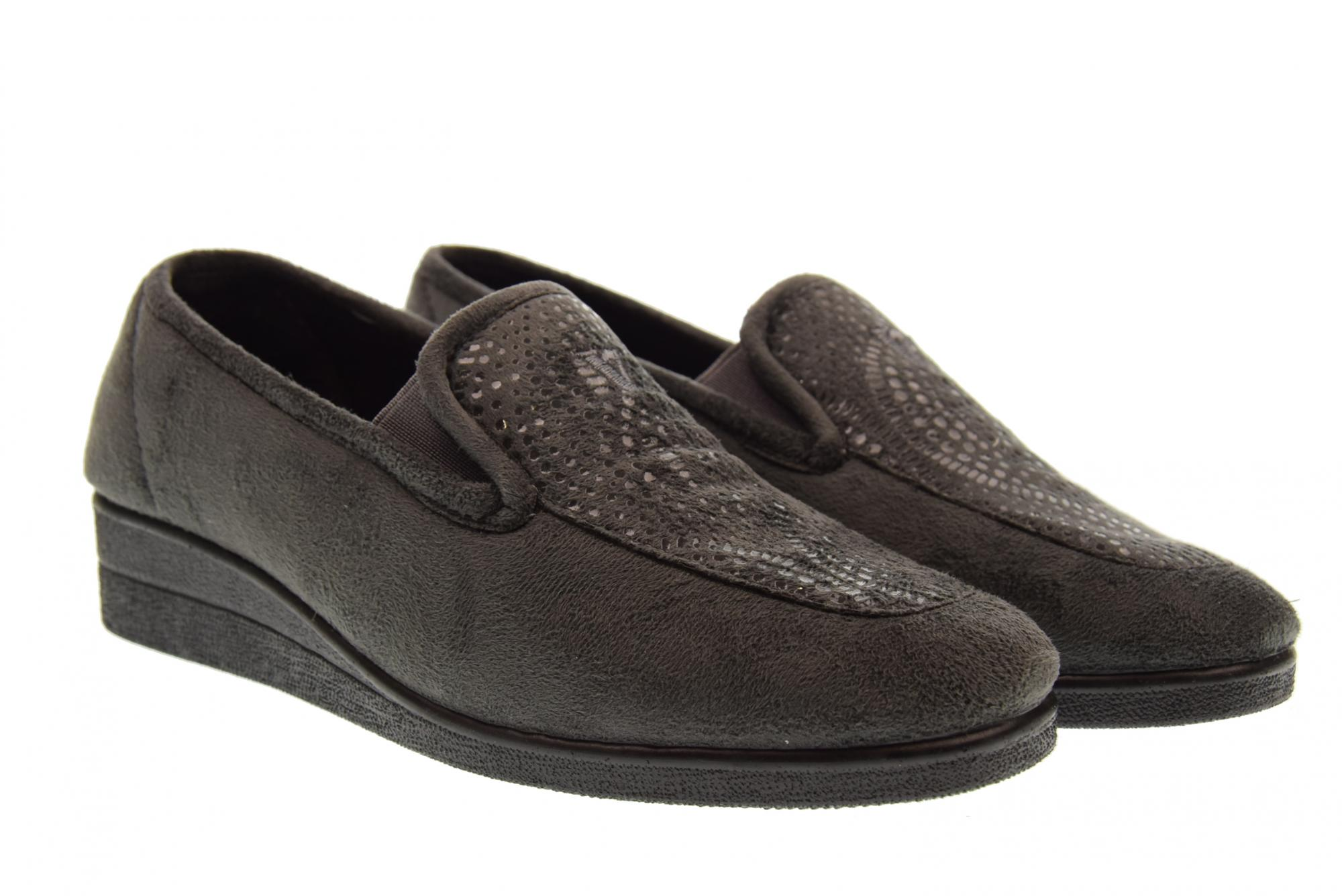 Vallegreen A18f shoes femme chaussons 23210 ANTHRACITE