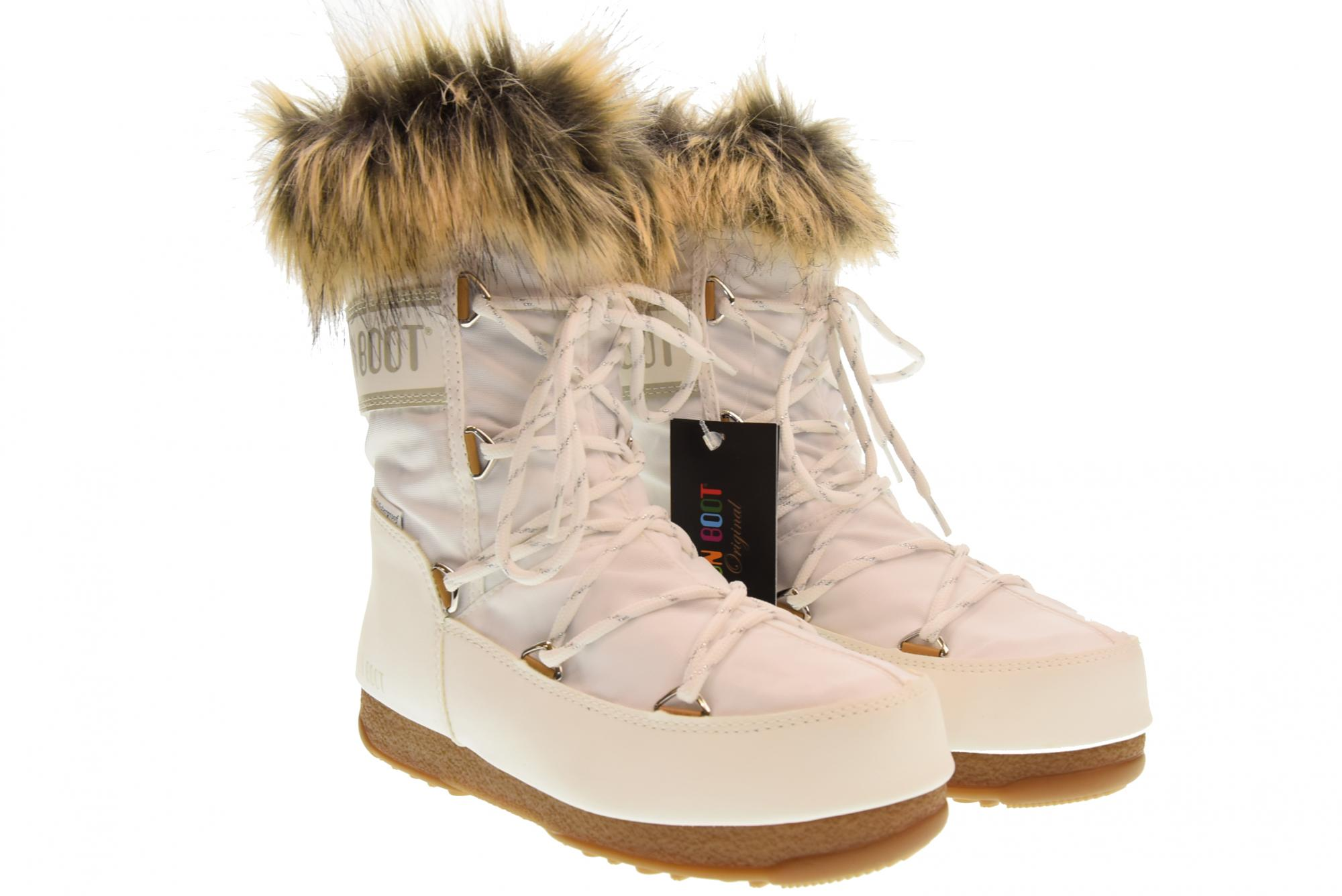 Moon Boot A18us woman shoes MOON BOOT W.E.  MONACO LOW 24002900002 BIANCO  brand on sale clearance