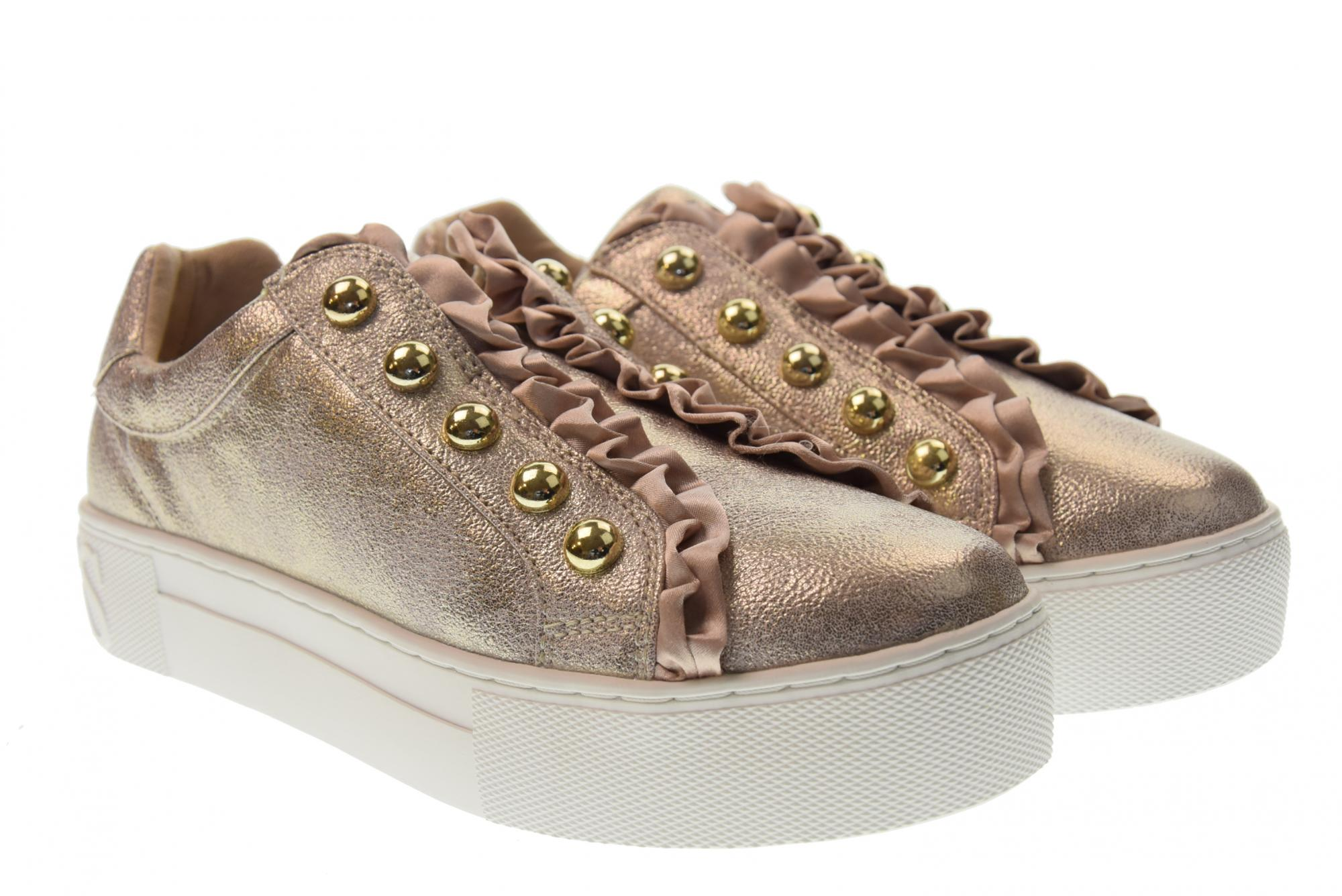 7ea3c3f326ae GUESS P19u shoes woman sneakers with platform without laces FL5MEZLEL12  PLATINO