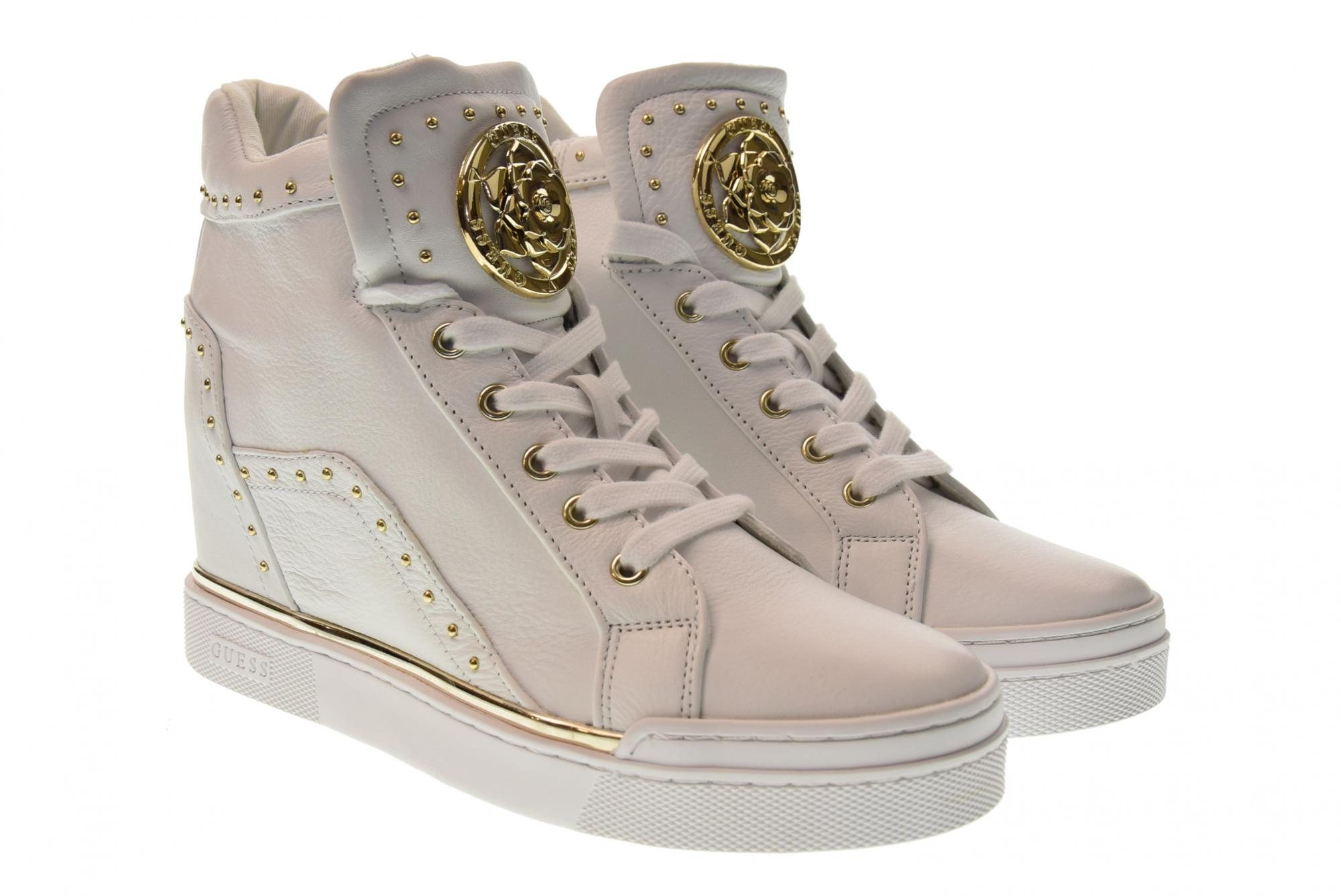 Guess P19us shoes woman high sneakers with internal wedge FL5FR2LEA12