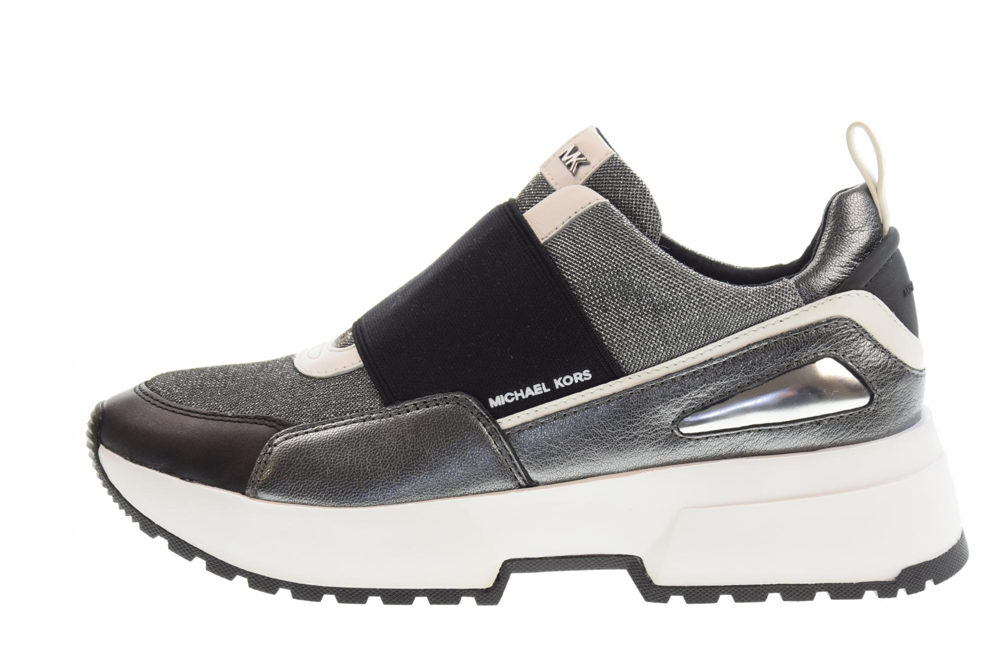 Details about Michael Kors P19us shoes woman low sneakers 43R9CSFP2D COSMO SLIP ON SILVER