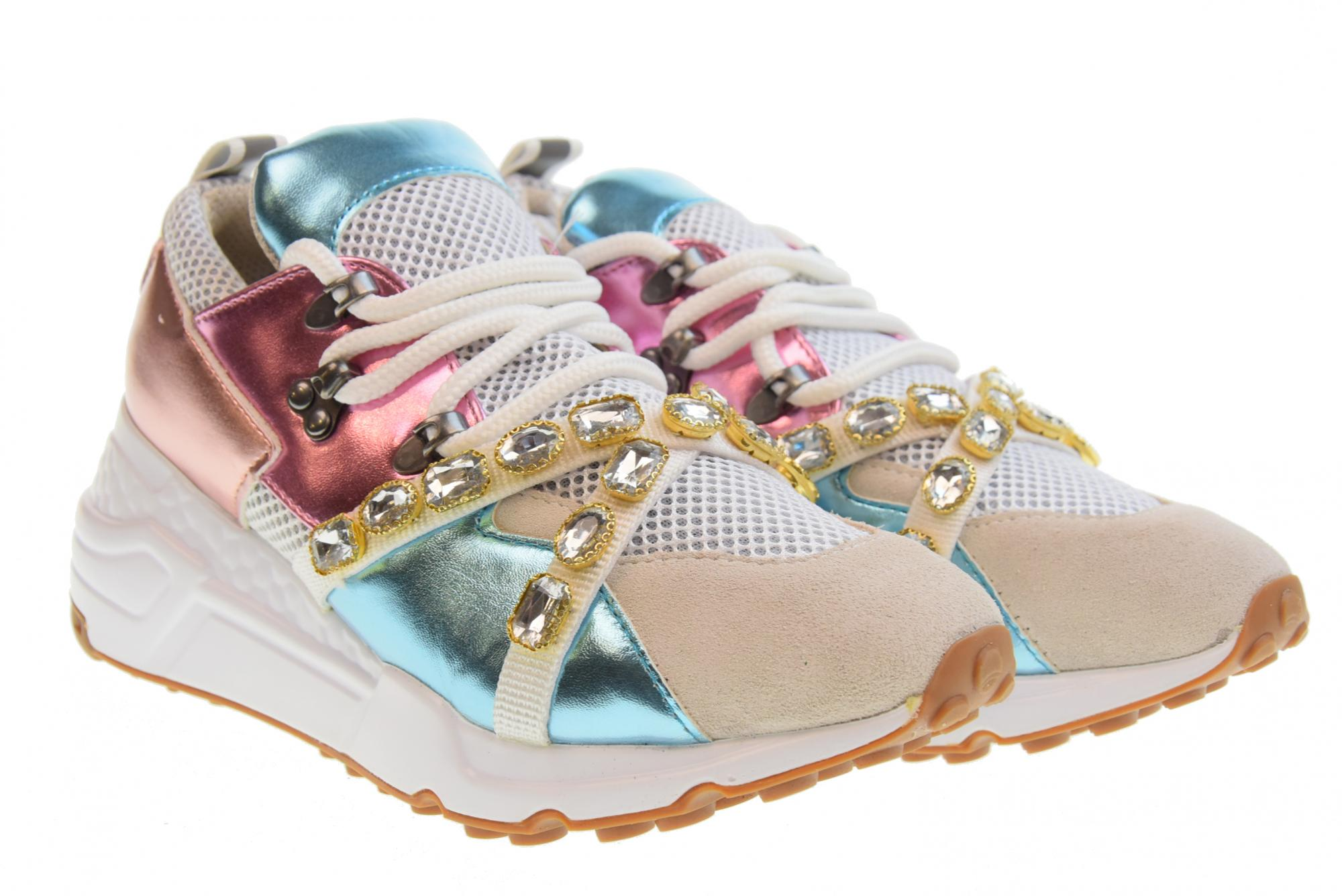 76bf55141d0 Details about Steve Madden P19u shoes woman sneakers CREDIT METAL MULT
