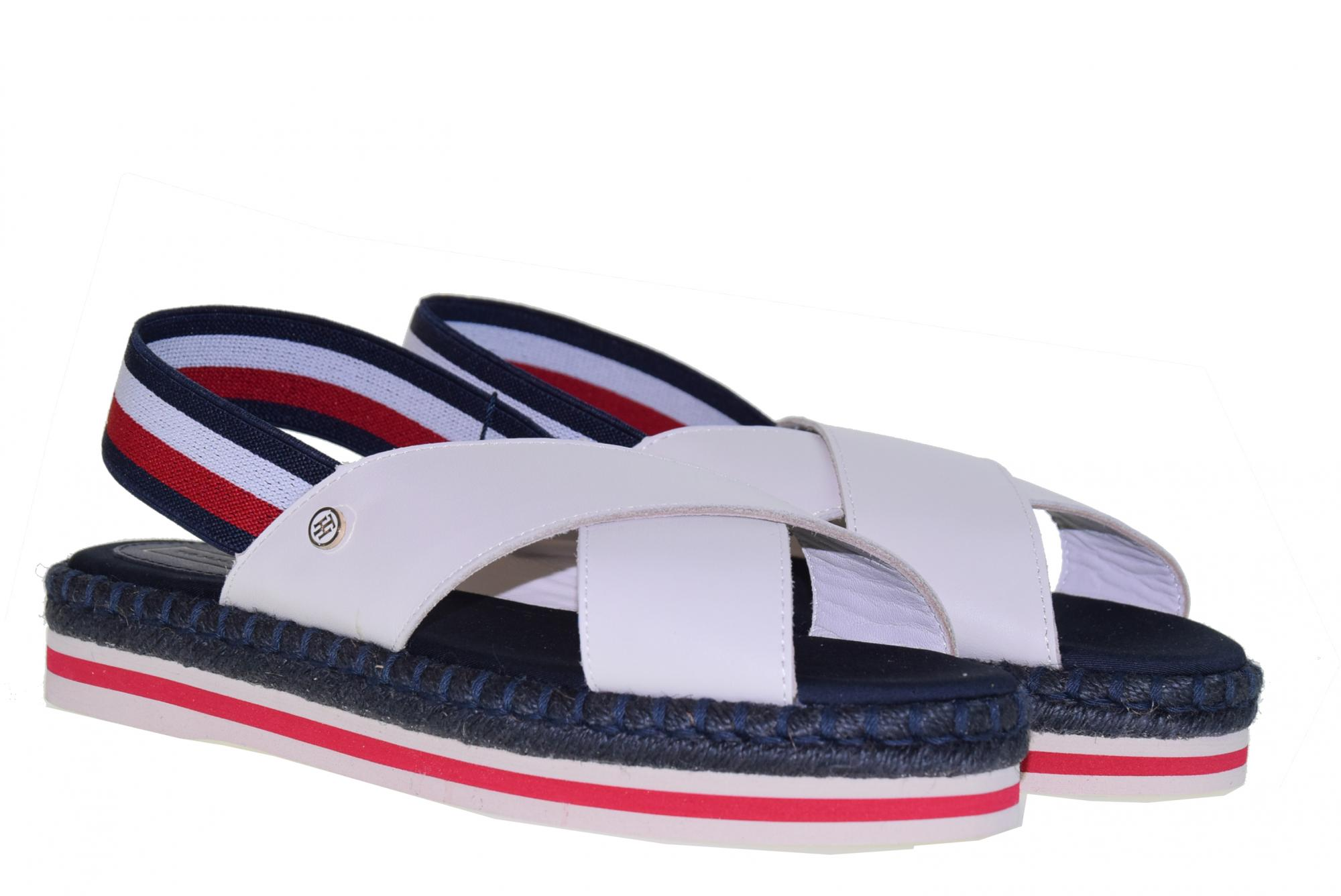 Tommy Hilfiger scarpe donna sandali FW0FW04060 929 COLORFUL ROPE FLAT SANDAL P19