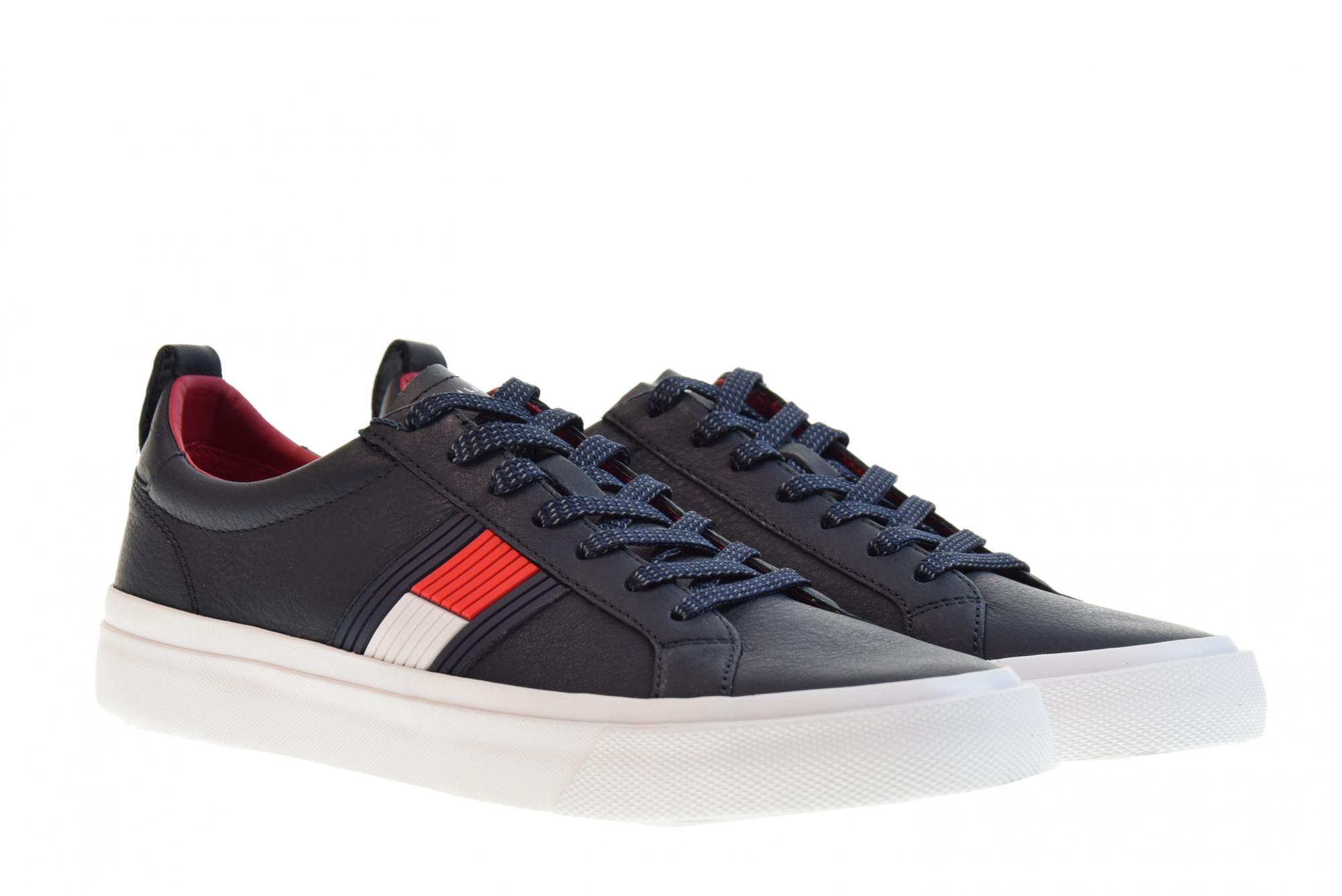 low priced 730b5 2bad2 Dettagli su Tommy Hilfiger scarpe uomo sneakers basse FM0FM01712 403 FLAG  P19