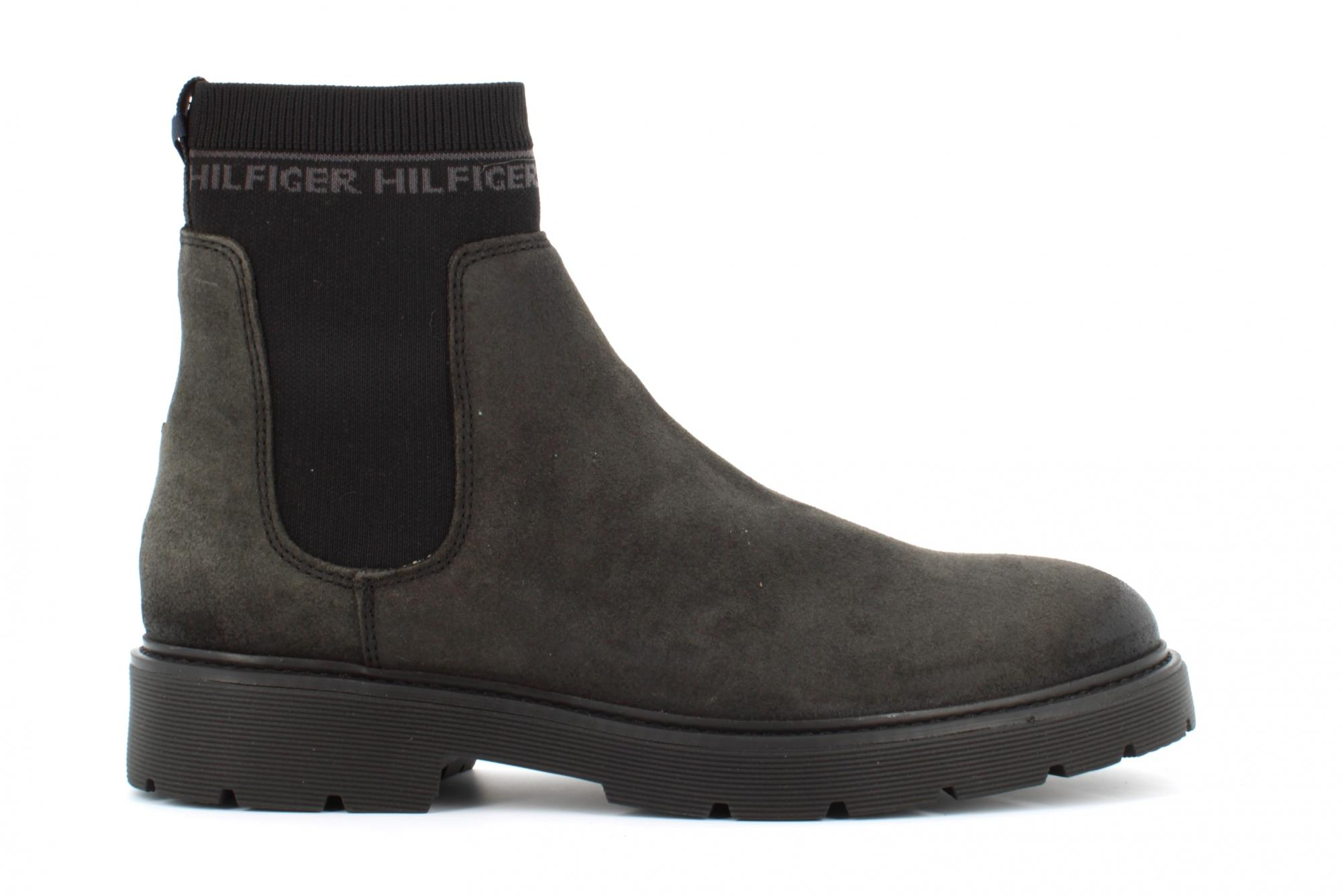 best collection look good shoes sale 100% original Details about Tommy Hilfiger A19u men's shoes ankle boots FM0FM02532 PC9  SUEDE CLEATED CHELSEA