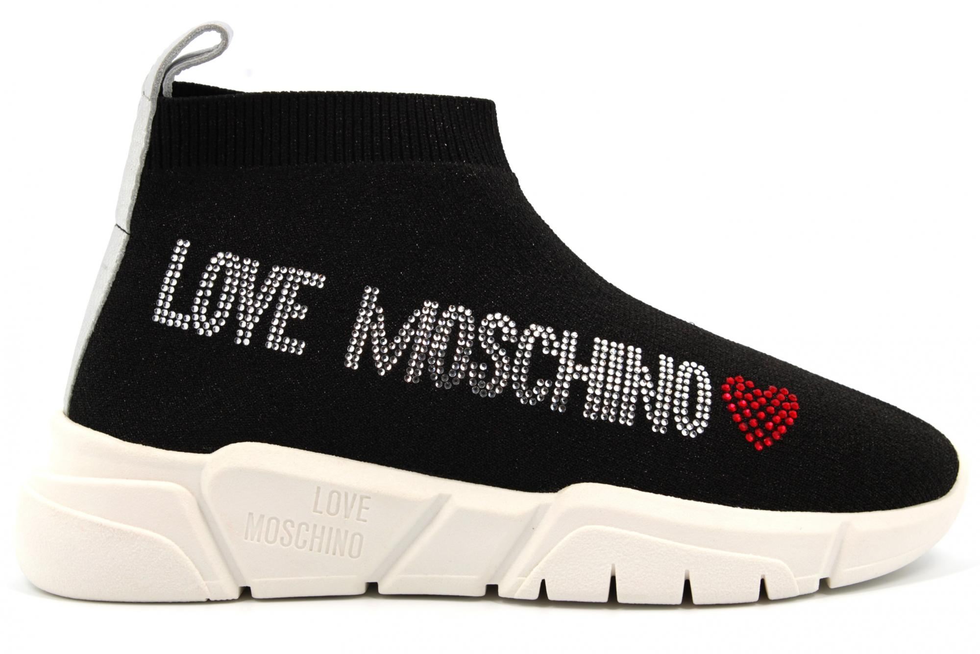 love moschino high top sneakers