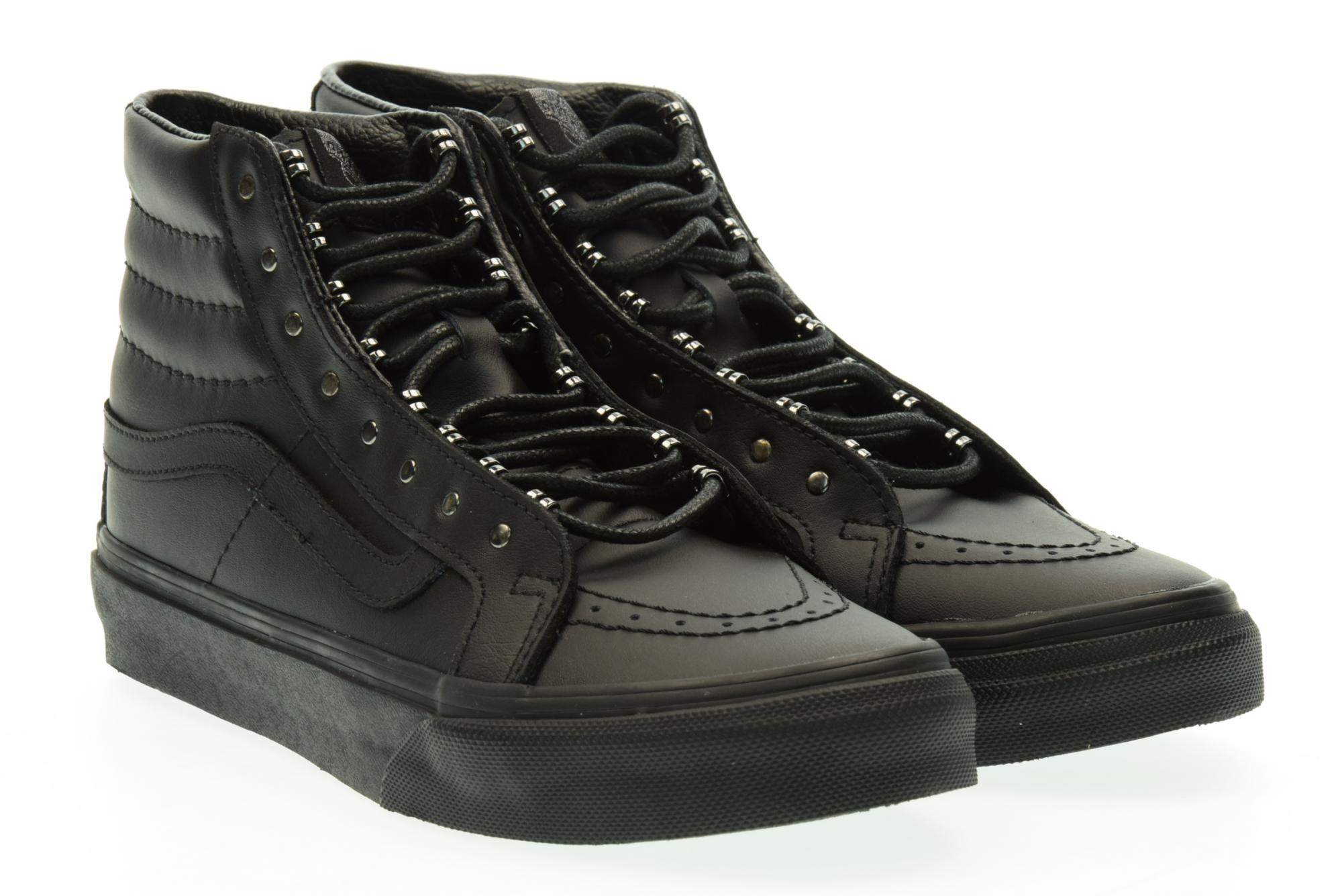 Vans Baskets Unisexes Haute 18IJV1 SK8-HI Slim (Rivets) 41 Nero