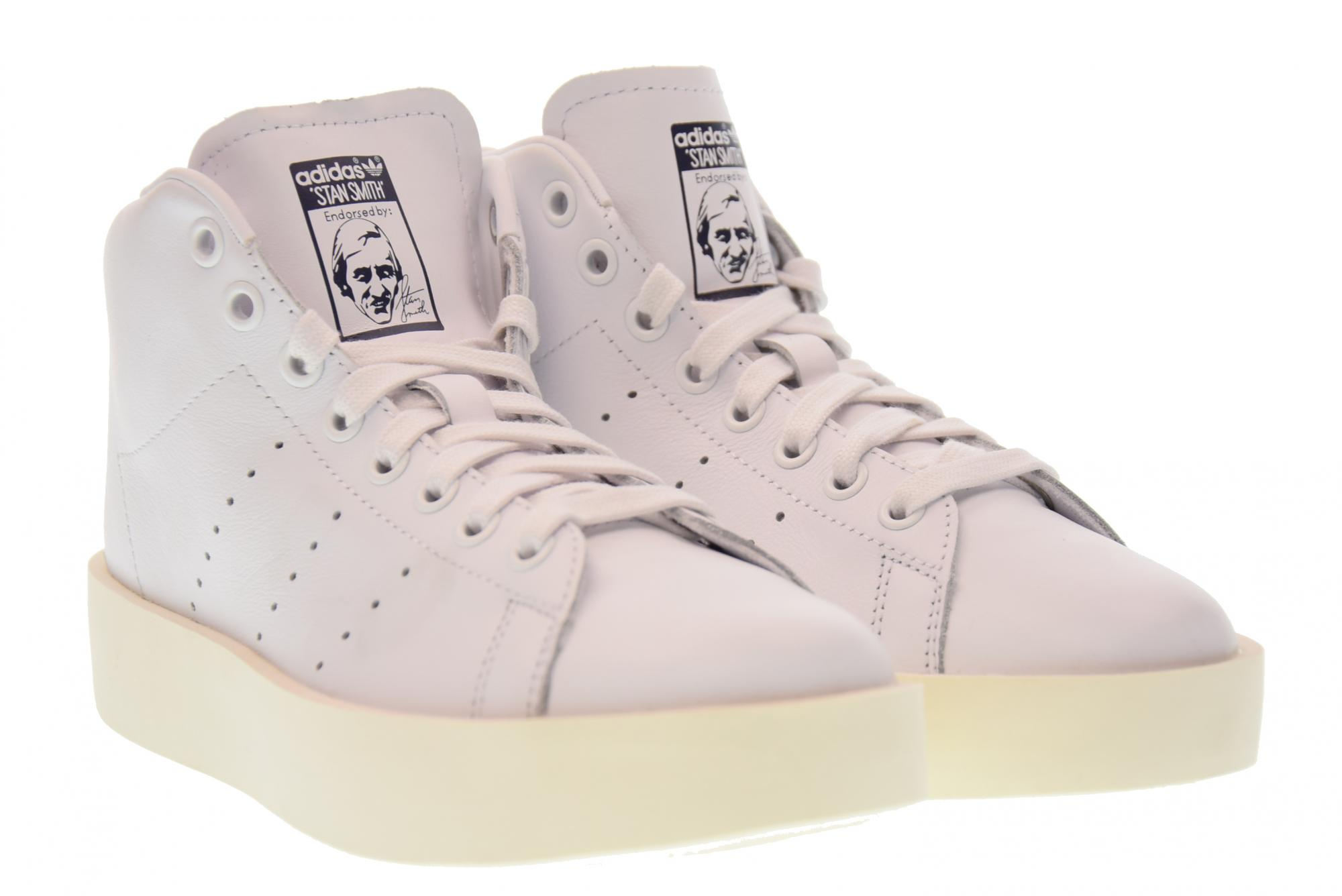 Adidas scarpe donna sneakers alte piattaforma BY9664 STAN SMITH BOLD MID A17
