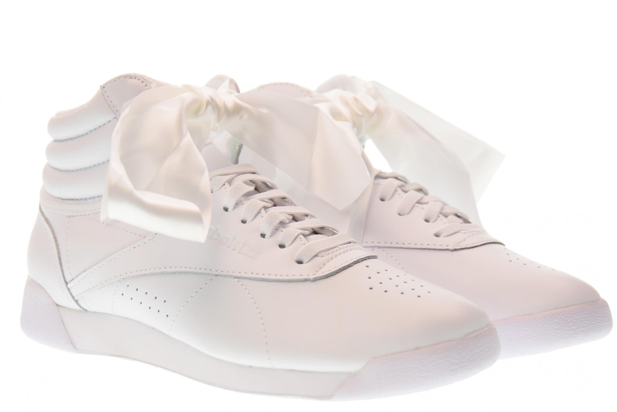 3c5e68ecfe255 Details about Reebok P18u shoes woman high sneakers CM8903 F / S HI SATIN  BOW