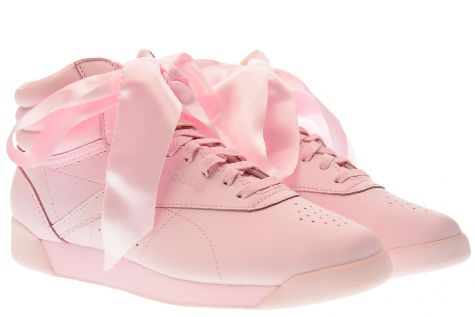 f0473a2a70196 Details about Reebok P18u shoes woman high sneakers CM8905 F / S HI SATIN  BOW