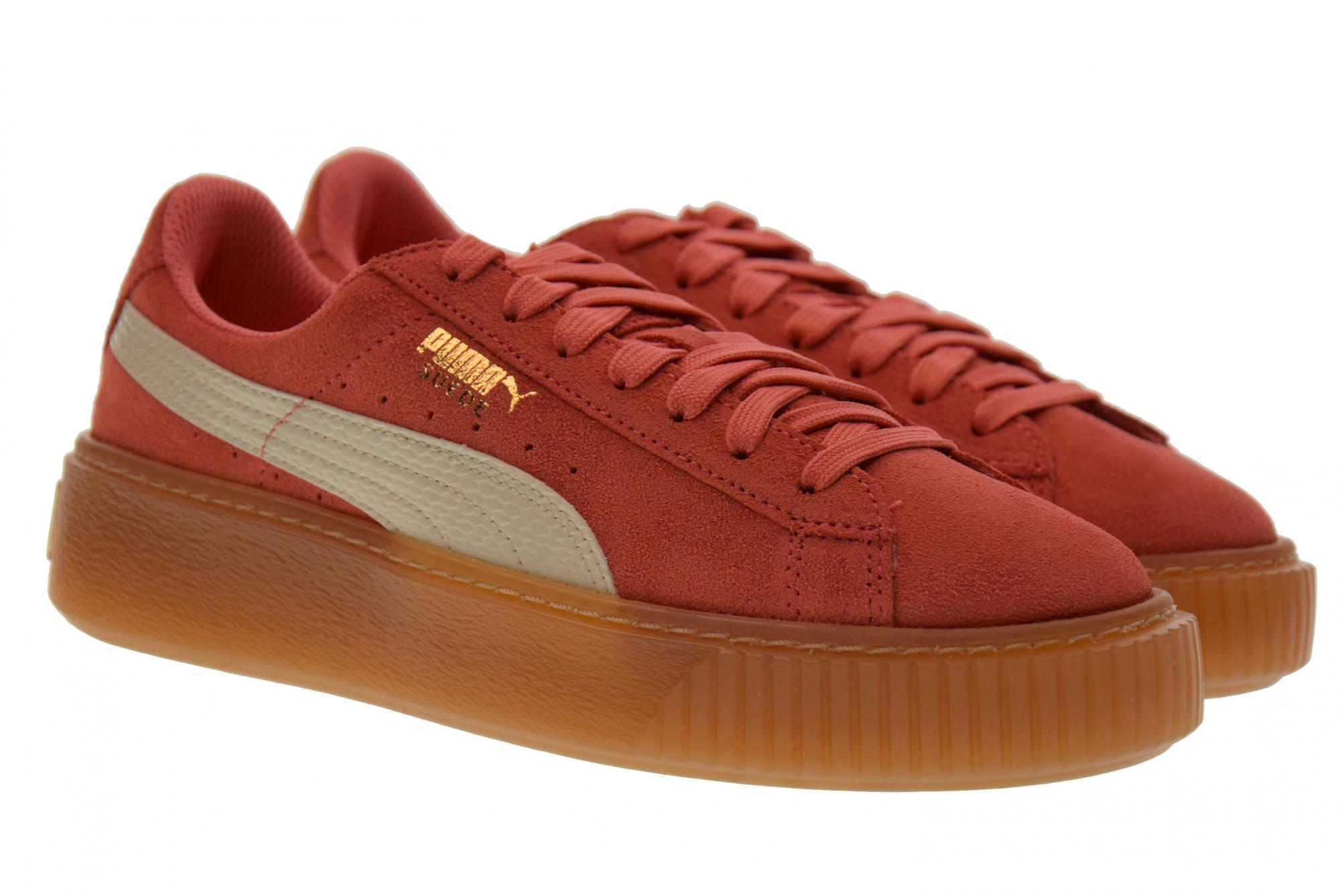 Puma P18us shoes woman low sneakers 3639063 04 SUEDE PLATFORM SNK JR