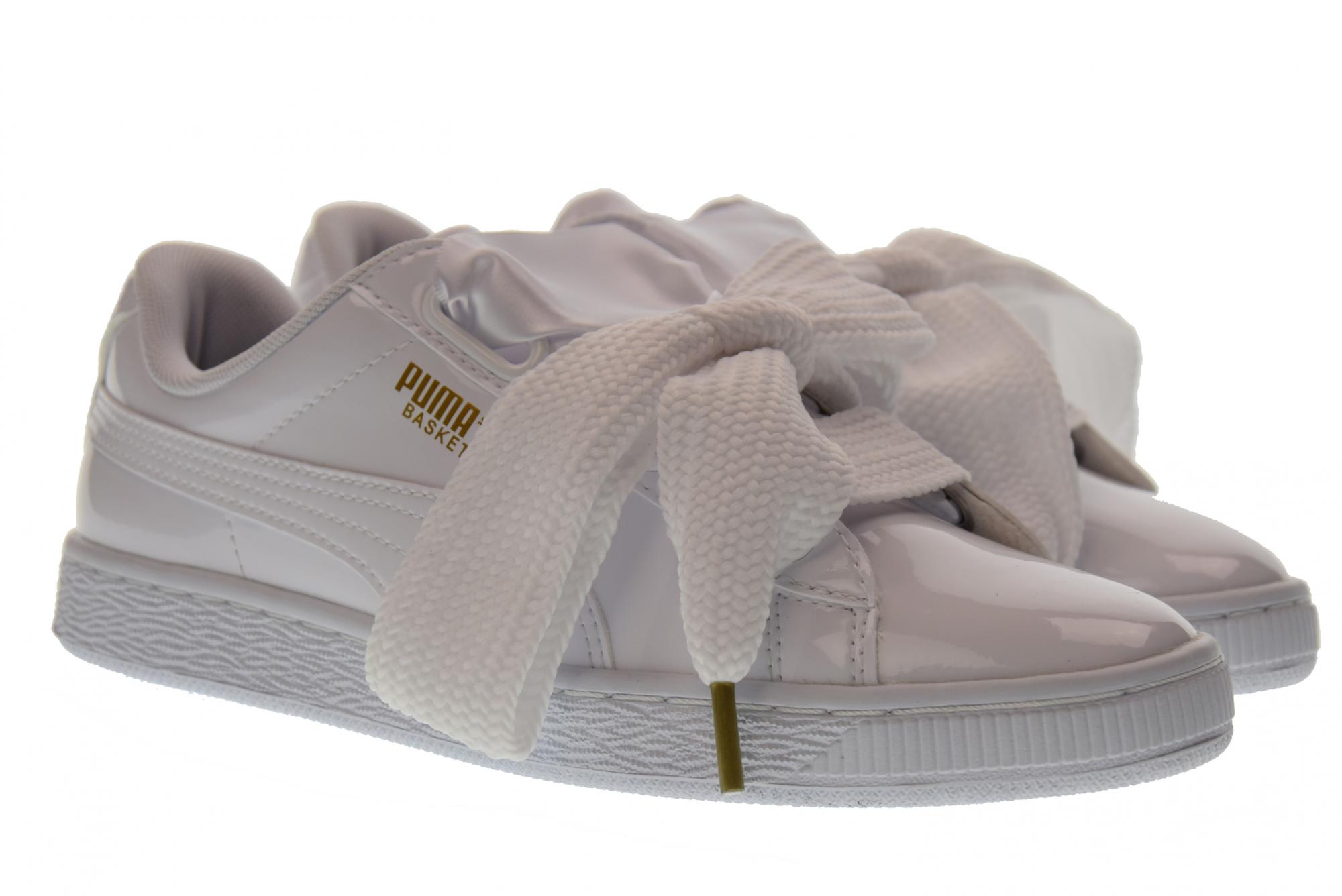 78fc5a2c8a48 Puma P18us shoes woman low sneakers 363073 02 BASKET HEART PATENT WN  S